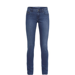 Mid Rise Skinny Jeans Blue