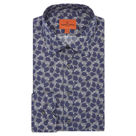 Hedgehog Print Shirt Navy
