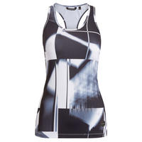 Abstract Print Tank Top Black/White