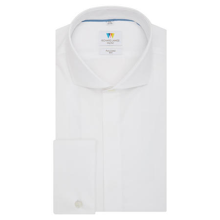 Embroidered Slim Fit Shirt White