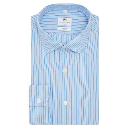 Highlight Stripe Slim Fit Shirt Blue
