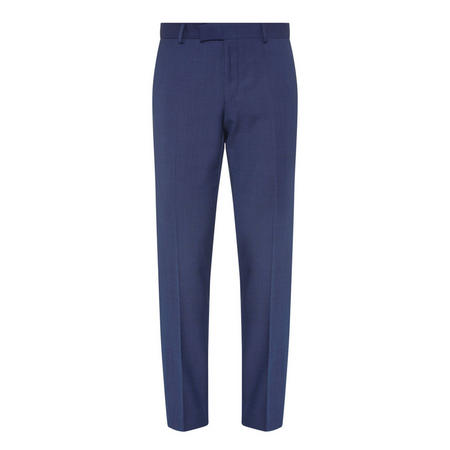 Pin Dot Slim Suit Trousers Navy