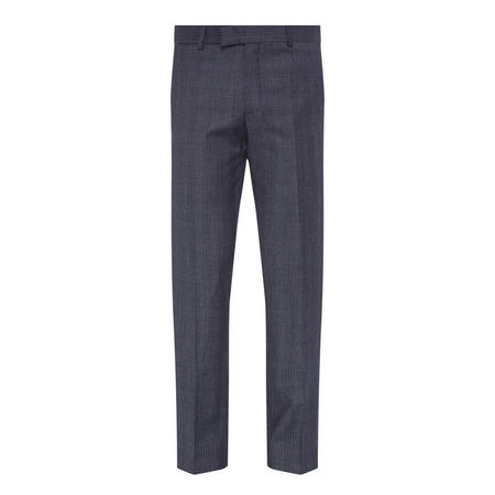 Check Wool Trousers Navy