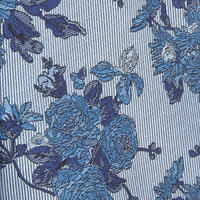 Floral Pattern Tie Blue