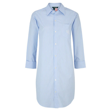 His Striped Shirt Nightdress  Blue