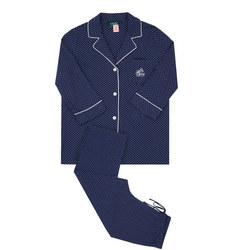 Classic Polka Dot Pyjamas Blue