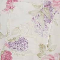 Floral Print Night Shirt White