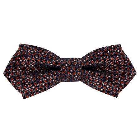 Geometric Circle Silk Bow Tie Metallic