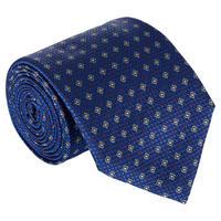 Diamond Dot Silk Tie Navy