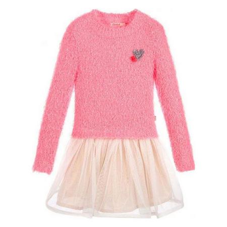 Girls Long Sleeve Tutu Dress Pink