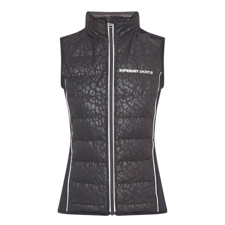 Gym Quilted Gilet Black