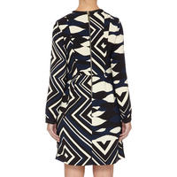 Odeon Abstract Print Dress Blue