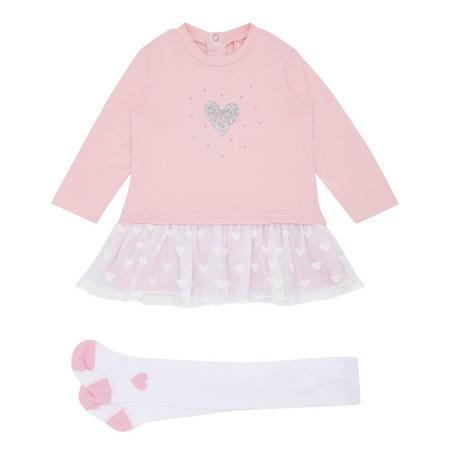 Babies Tutu Dress & Tights Set Pink