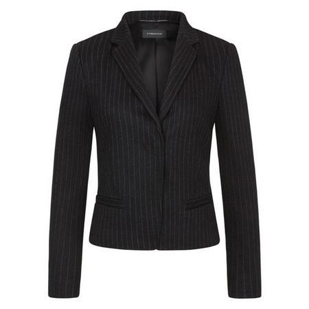 Bana Pinstripe Jacket Black