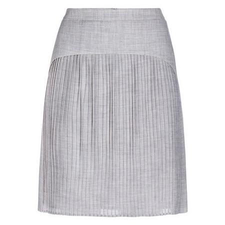 Siana Fine Pleated Skirt Grey