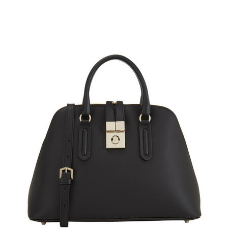 Milano Dome Satchel Handbag Black