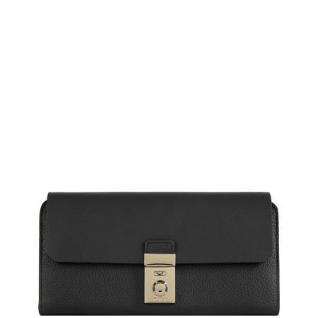 Milano Billfold Push-Lock Wallet Black