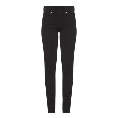 Slim Push-In Secret Jeans Black