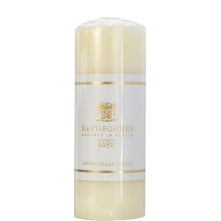 Luxury Pillar Candle Medium White