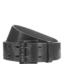 Bit II Leather Belt Black