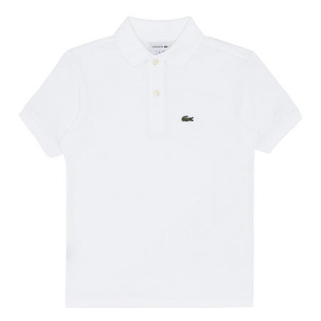 Boys Short Sleeve Piqué Polo Shirt White