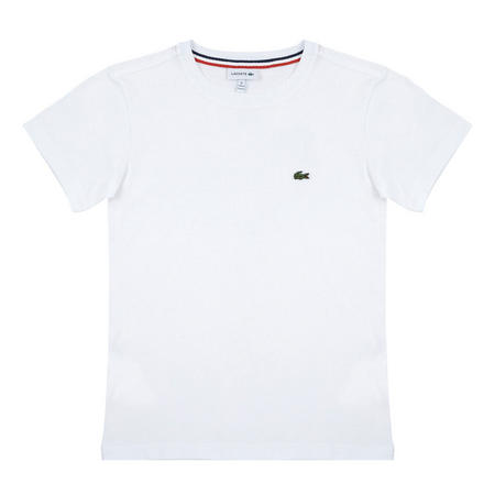 Boys Crew Neck Cotton Jersey T-Shirt White