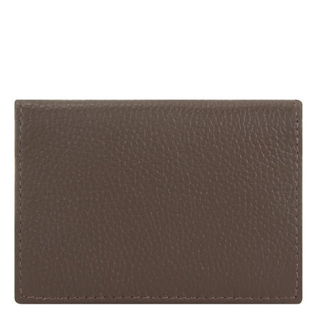 Leather Card Holder With RFID Blocking Brown