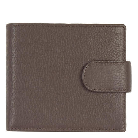 RFID Blocking Tab Close Wallet Brown