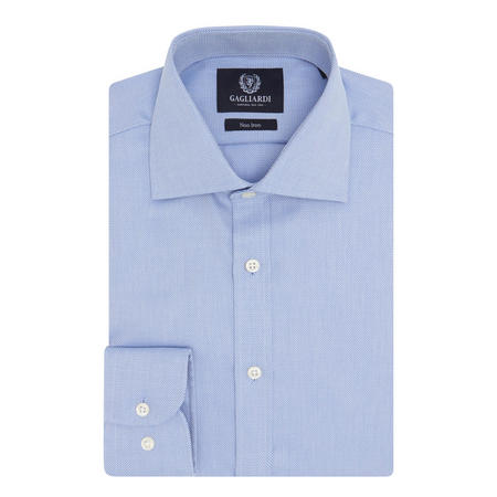 Link Weave Shirt Blue