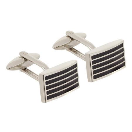 Rectangular Stripe Cufflinks