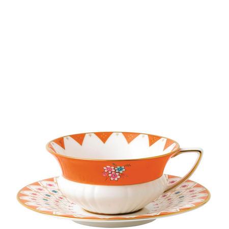 Wonderlust Teacups & Saucers Peony Diamond