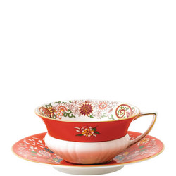 Wonderlust Teacups & Saucers Crimson Orient
