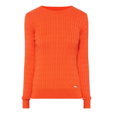 Cable Knit Sweater Orange