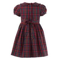 Girls Tartan Frill Dress Red