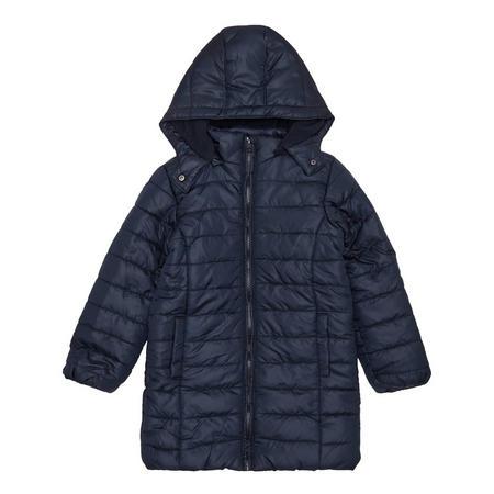 Girls Long Puffa Jacket