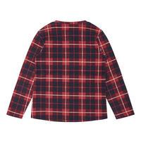 Girls Tartan Pattern Top Red