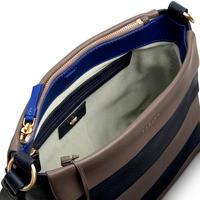 Syon Park Striped Crossbody Bag  Blue