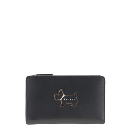 Heritage Dog Zip Around Wallet Black