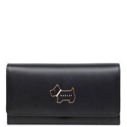 Dog Flap Top Wallet  Black