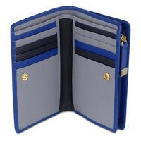 Shadow Medium Zip Wallet  Blue