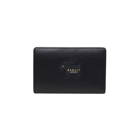 Shadow Medium Zip Wallet  Black