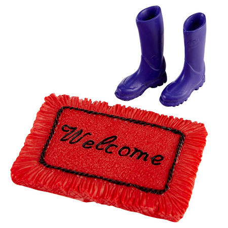 Welcome Mat With Boots Multicolour