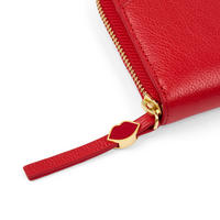 Cupid's Bow Leather Contintenal Wallet Red