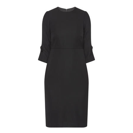 Bow Sleeve Dress Black