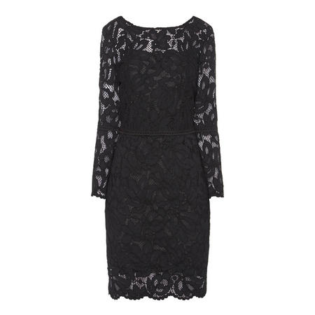 Lace Pencil Dress Black