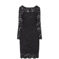 Lace Pencil Dress Black
