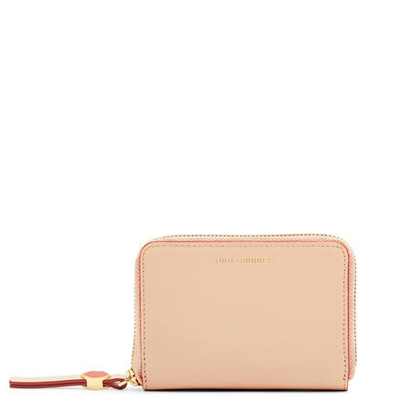 Small Continental Wallet Beige