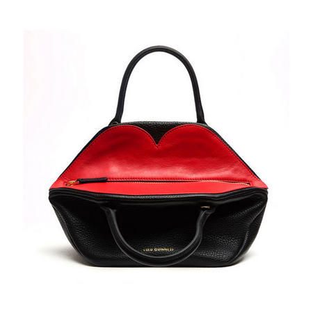 Peekaboo Lip Small Valentina Crossbody Bag Black