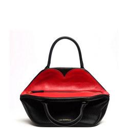 Peekaboo Lip Small Valentina Crossbody Bag Black