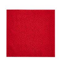 Lip Print Silk Twill Scarf Red